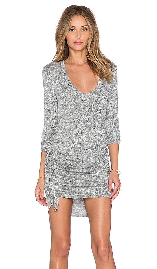 Riller & Fount x REVOLVE Ophelia Fringe Dress in Gray