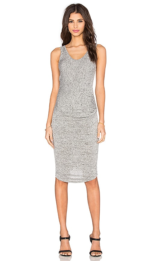Riller & Fount Gia Midi Dress in Pebble