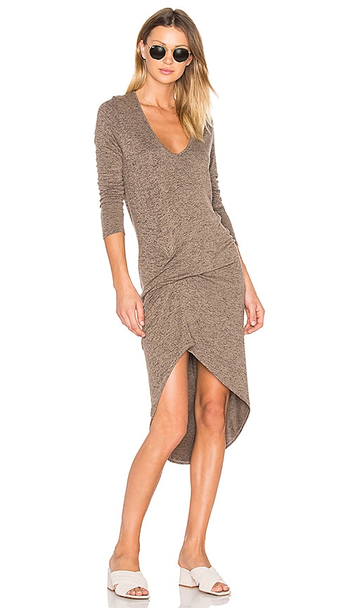 Riller & Fount Edith Dress in Brown