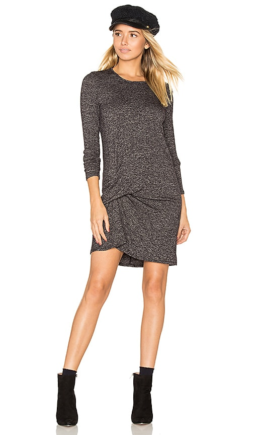 Riller & Fount Olive Pinched Front Dress in Charcoal