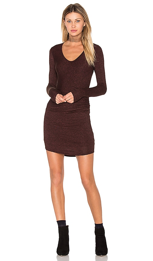 Riller & Fount Tippy Mini Dress in Burgundy