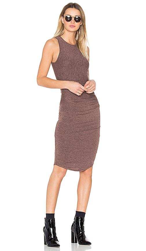Riller & Fount Portia Midi Dress in Brown