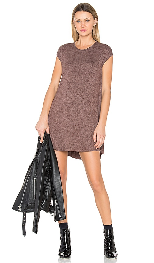 Riller & Fount Polly Mini Dress in Brown