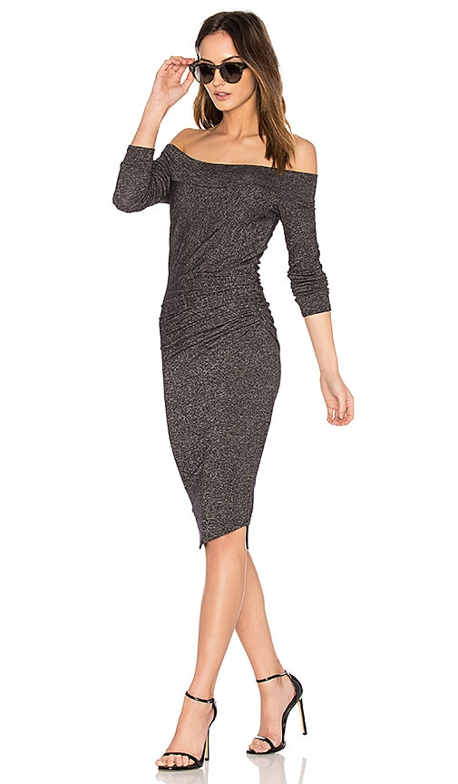 Riller & Fount Angelina Midi Dress in Gray