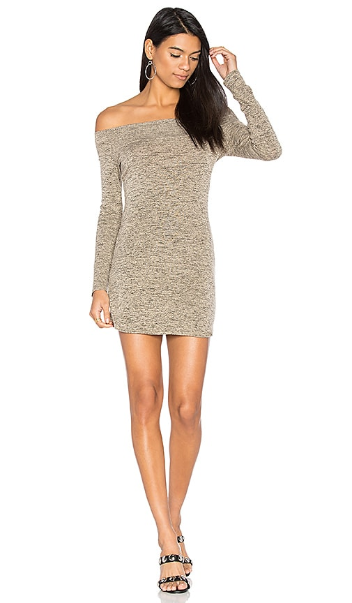 Riller & Fount x REVOLVE Jimmy Off Shoulder Dress in Beige