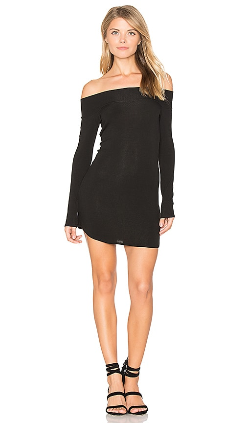 Riller & Fount x REVOLVE Jimmy Off Shoulder Dress in Black