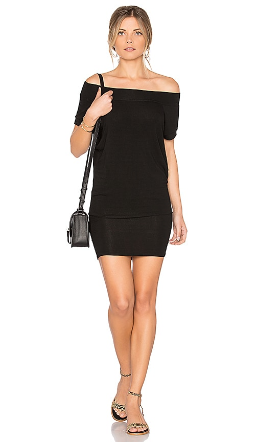Riller & Fount Dwight Off Shoulder Tunic Dress in Black
