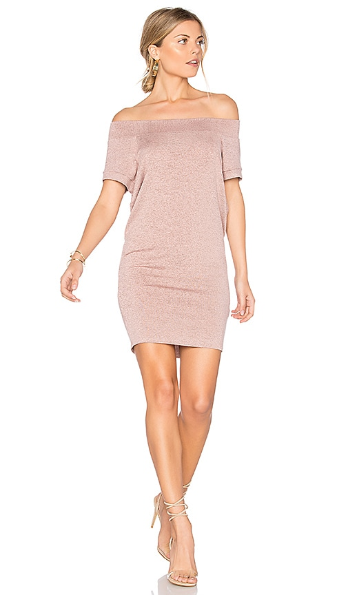 Riller & Fount Dwight Off Shoulder Tunic Dress in Pink