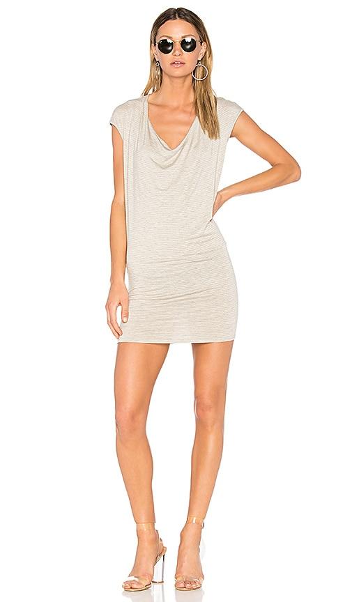 Riller & Fount Waylon Drape Front Mini Dress in Light Gray