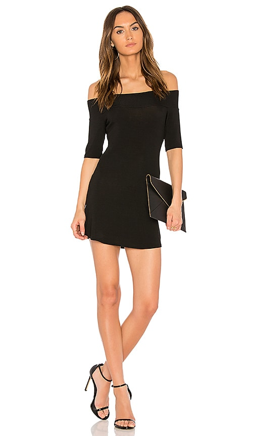 Riller & Fount Toni Off the Shoulder Dress in Black