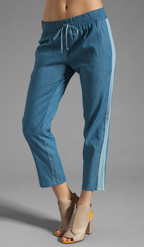 Estelle Drawstring Pant with Contrast Side Panel
