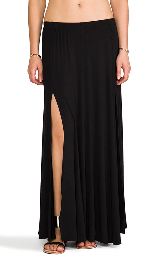 Simon Double Front Slit Maxi Skirt
