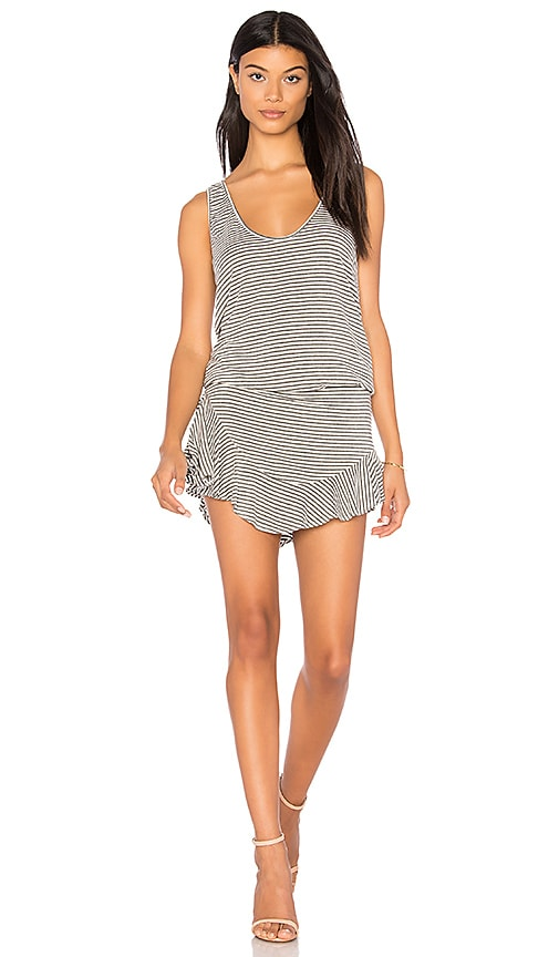 Riller & Fount Hollie Romper in Gray