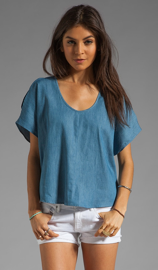 Kara Split Shoulder Top with Back Slit