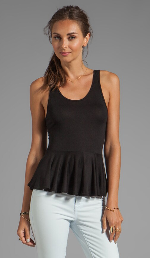 Leona Scoop Neck Peplum Tank