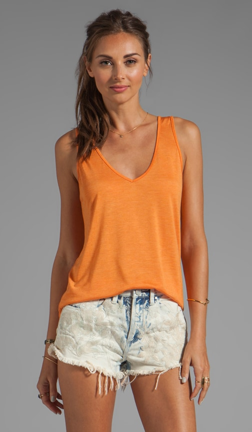 Khia Loose V Neck Basic Tank