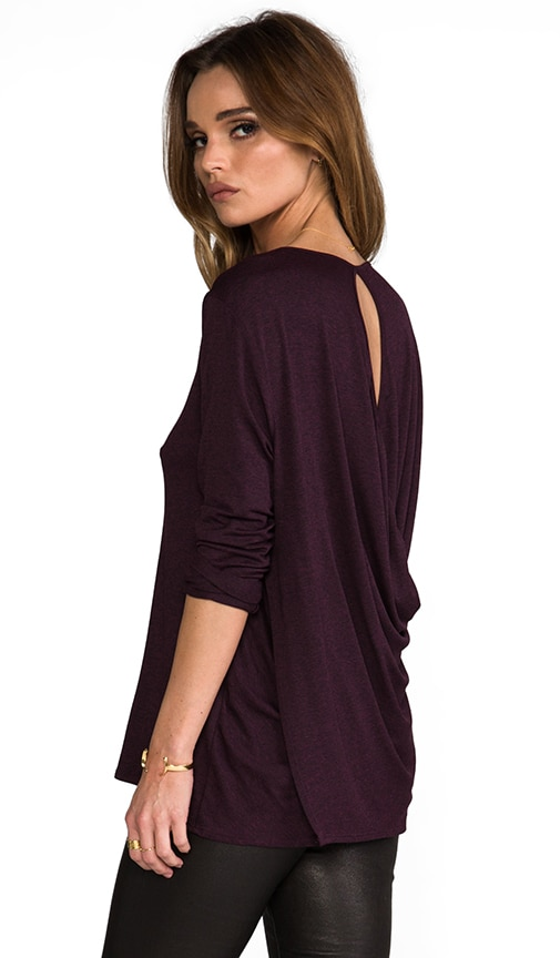 Konrad Draped Open Back Top