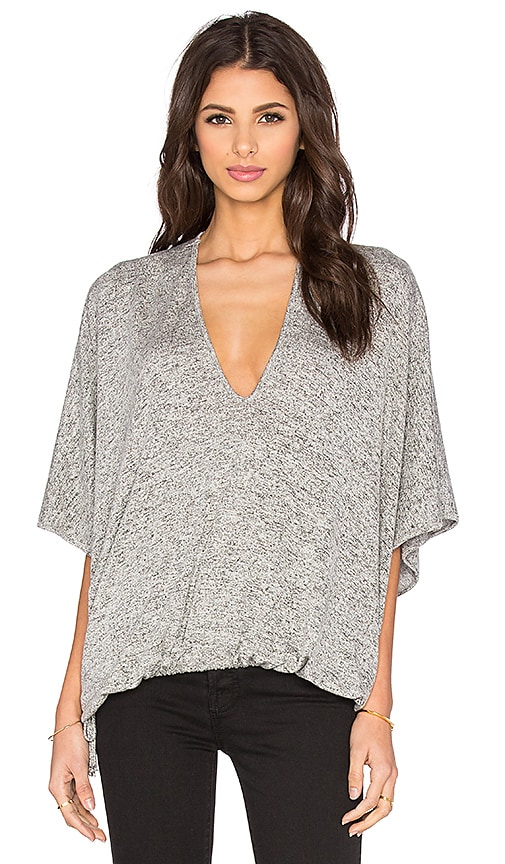 Riller & Fount Goldie Oversized Top in Gray
