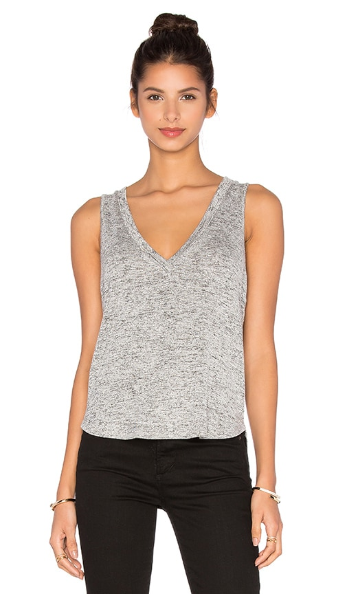 Riller & Fount Pam Cropped Tank in Pebble