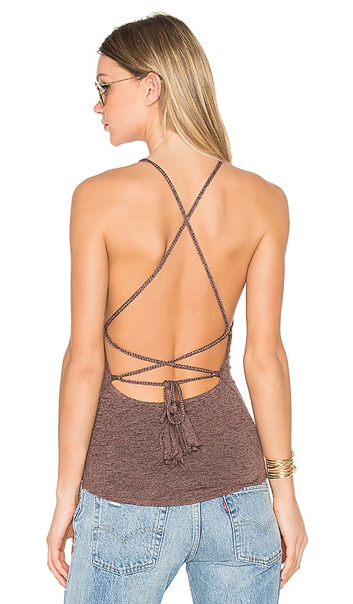 Riller & Fount x REVOLVE Lulu Halter Criss Cross Tank in Brown