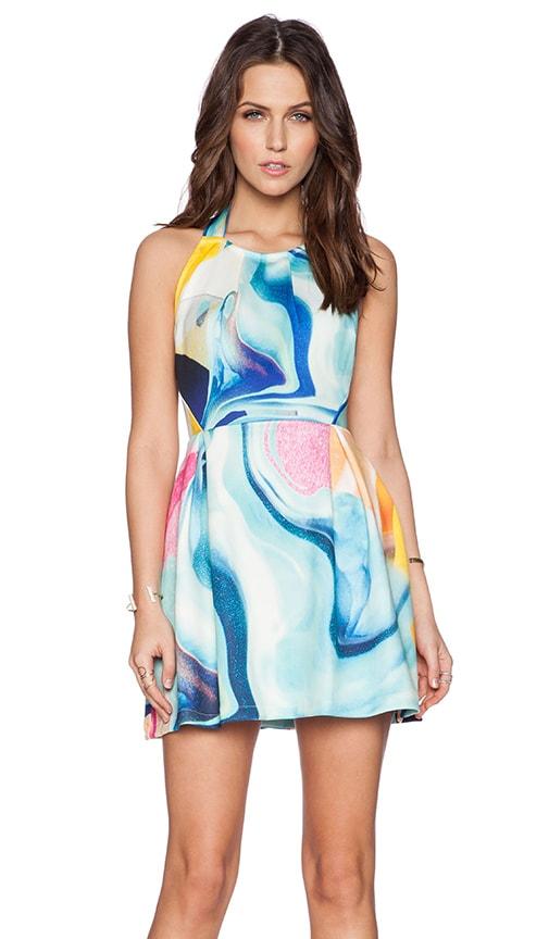 Ringuet Eternal Backless Pleat Dress in Print