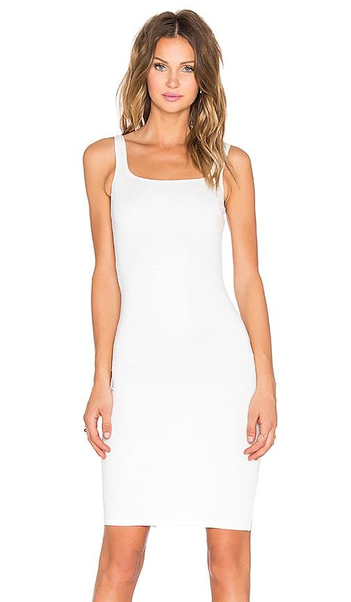 RISE Sleepless Midi Dress in White