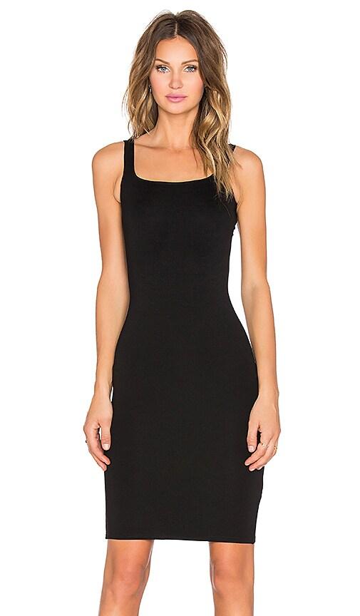 RISE Sleepless Midi Dress in Black