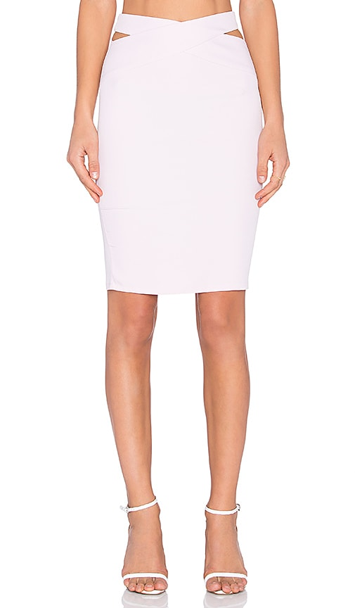 RISE Queen V Midi Skirt in Pink