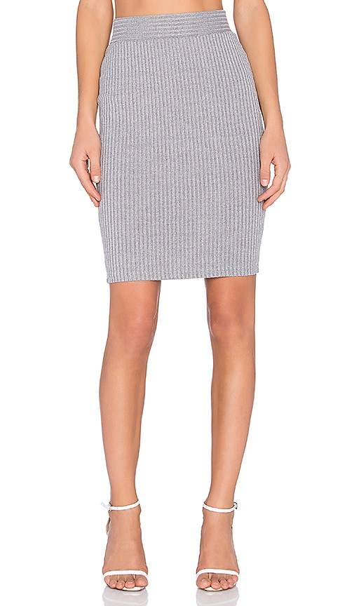 RISE Rib Perfection Mini Skirt in Gray