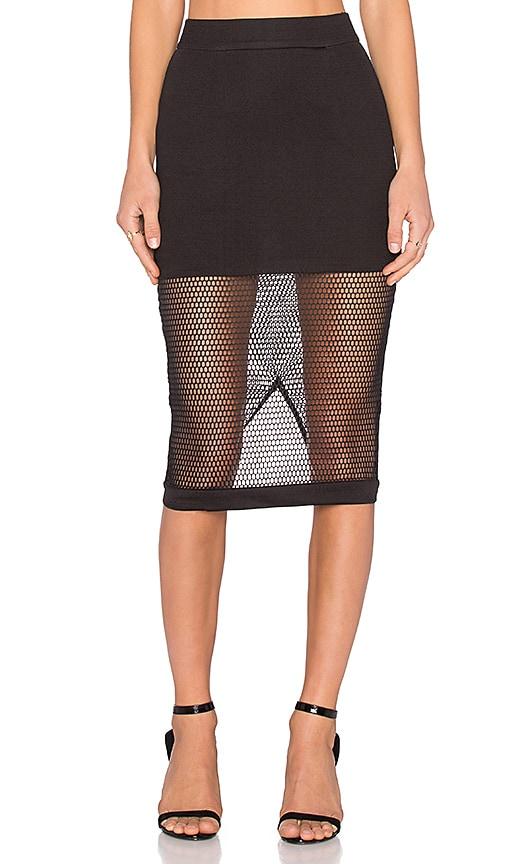 Burning Desire Mesh Midi Skirt