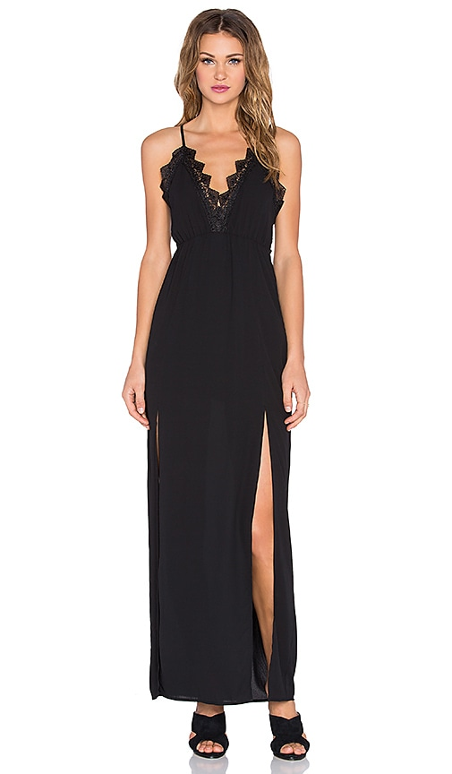 RISE OF DAWN Lady Lace Maxi Dress in Black