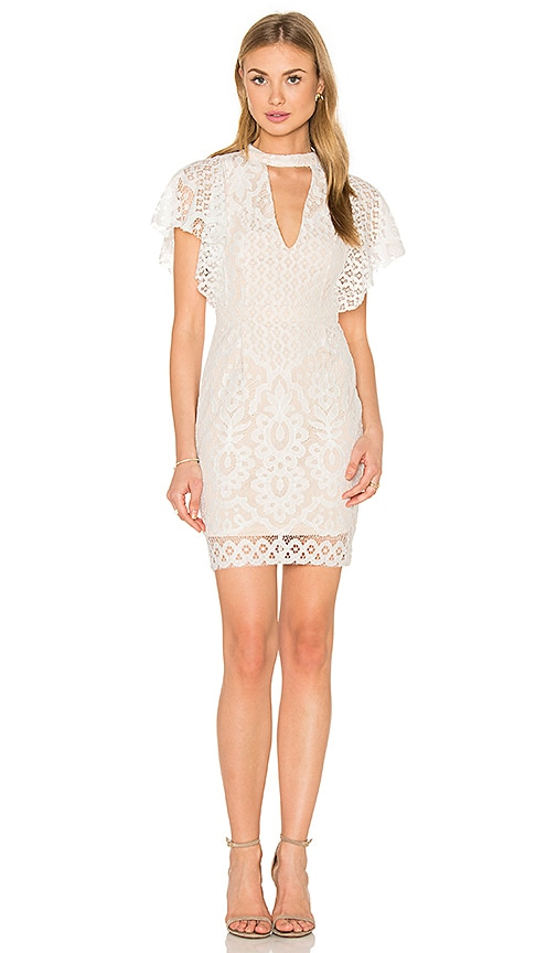 RISE OF DAWN Adriana Lace Dress in White