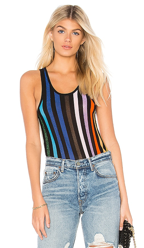 Replica Los Angeles Racer Stripe Tank in Black