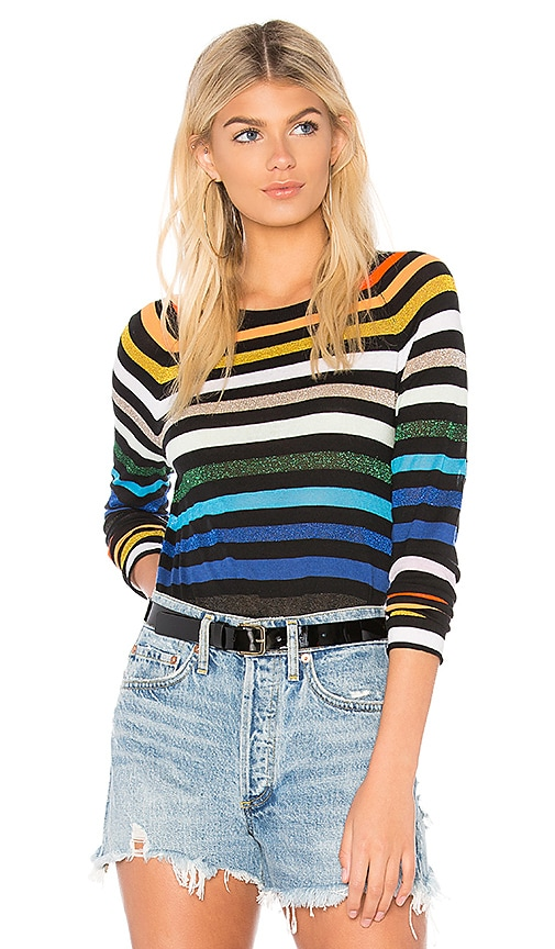 Replica Los Angeles Stripe Baseball Tee in Black