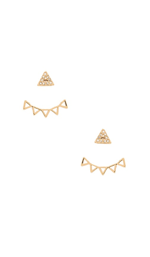 Rebecca Minkoff Triangle Stud Earring in Metallic Gold
