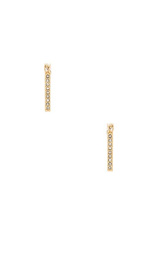 Rebecca Minkoff Mini Pave V Hoop Earrings in Gold
