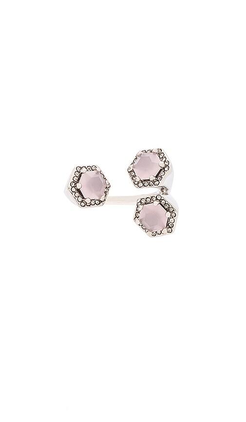 Rebecca Minkoff 3 Stone Ring in Silver
