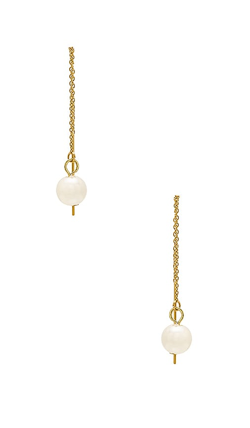 Rebecca Minkoff Threader Earring with Pearl in Gold