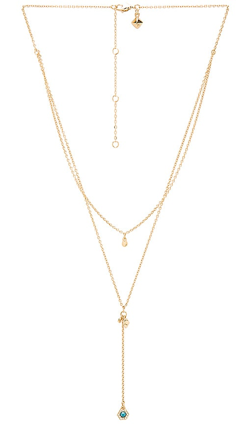 Rebecca Minkoff Pave Gem Layered Necklace in Metallic Gold