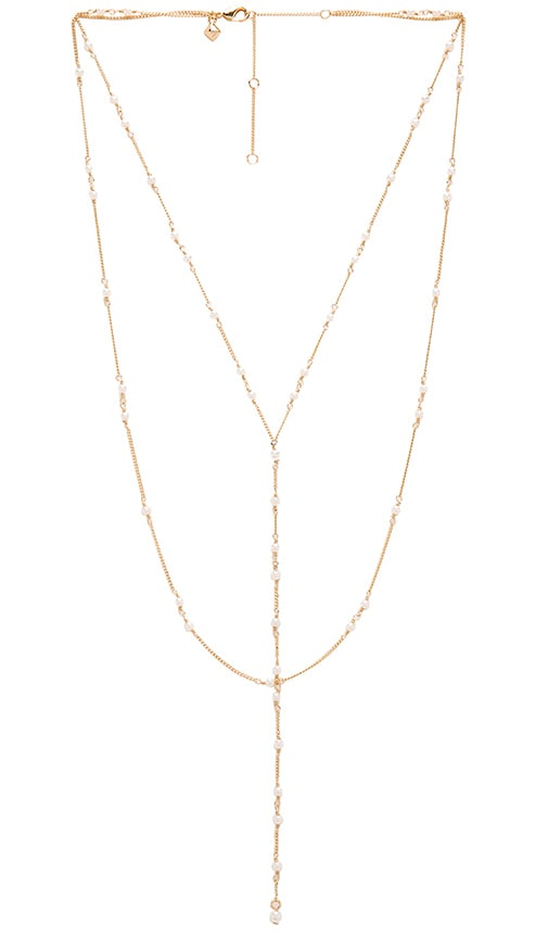 Rebecca Minkoff Pearl Layered Necklace in Gold & Pearl
