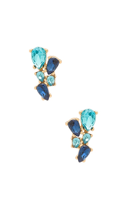 Rebecca Minkoff Multi Stone Stud Earring in Metallic Gold