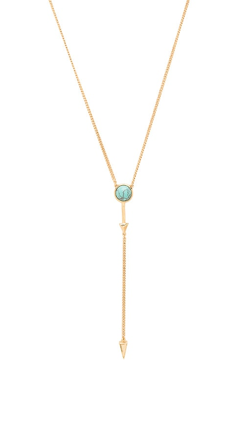 Rebecca Minkoff Boho Bead Lariat Necklace in Metallic Gold