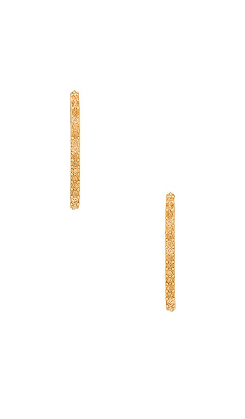 Rebecca Minkoff Mini Pave Safety Pin Earring in Metallic Gold