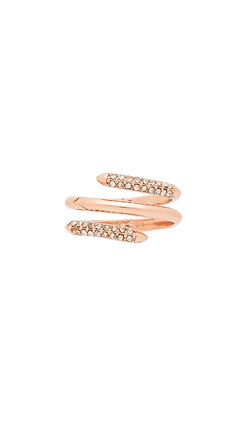 Rebecca Minkoff Pave Multi Row Ring in Metallic Copper