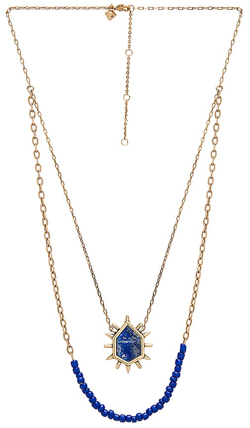 Rebecca Minkoff Burst Double Row Necklace in Metallic Gold IsH1X0hEFq
