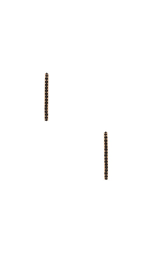Rebecca Minkoff Mini Pave Safety Pin Earring in Metallic Copper