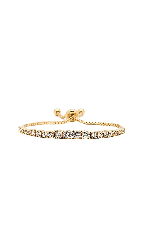 Rebecca Minkoff Stone Pulley Bracelet in Metallic Gold
