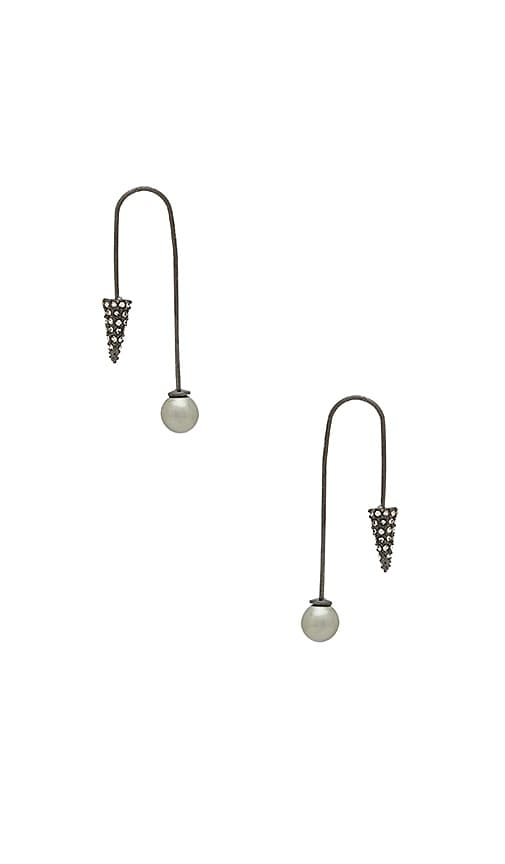 Rebecca Minkoff Cone Threader Earring in Metallic Silver