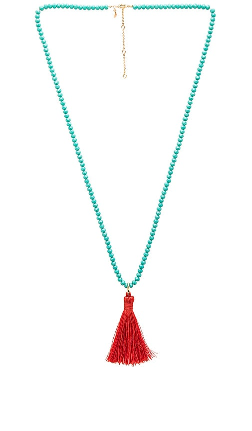 Bali Beaded Tassel Necklace