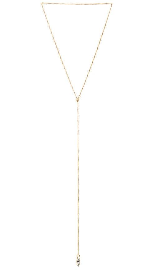 Rebecca Minkoff Sparkler Y Necklace in Metallic Gold